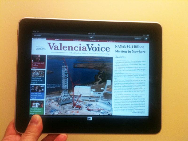 Voice becomes 1st college newspaper on iPad