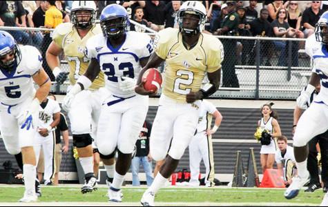 Quarterback Jeff Godfrey runs wild