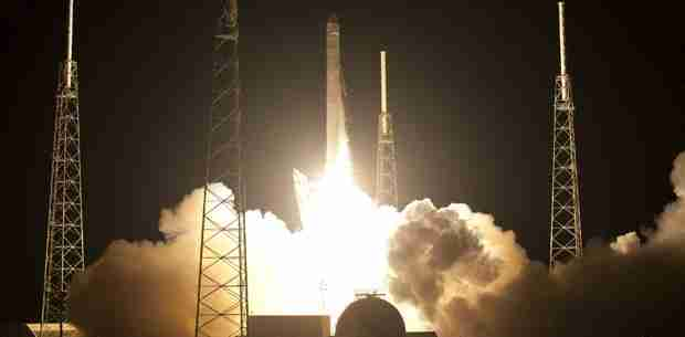 SpaceXs commercial craft launches for historic delivery