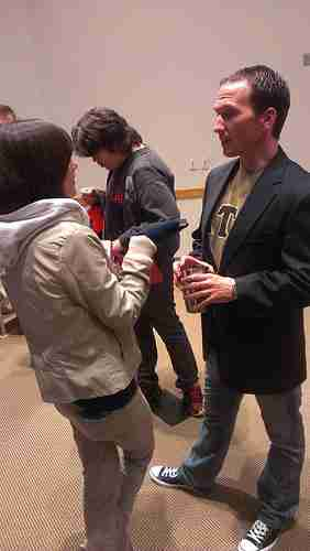 Keynote speaker offers advice, students start semester right