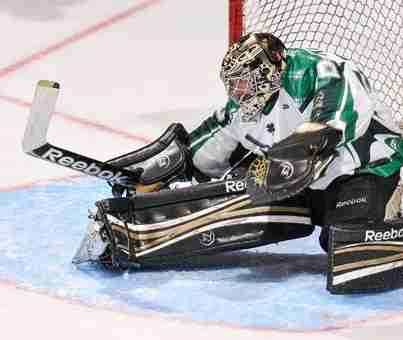 Patrick Killeen saves 43 out of 43 shots for his second shutout and defeat Greenville 4-0.