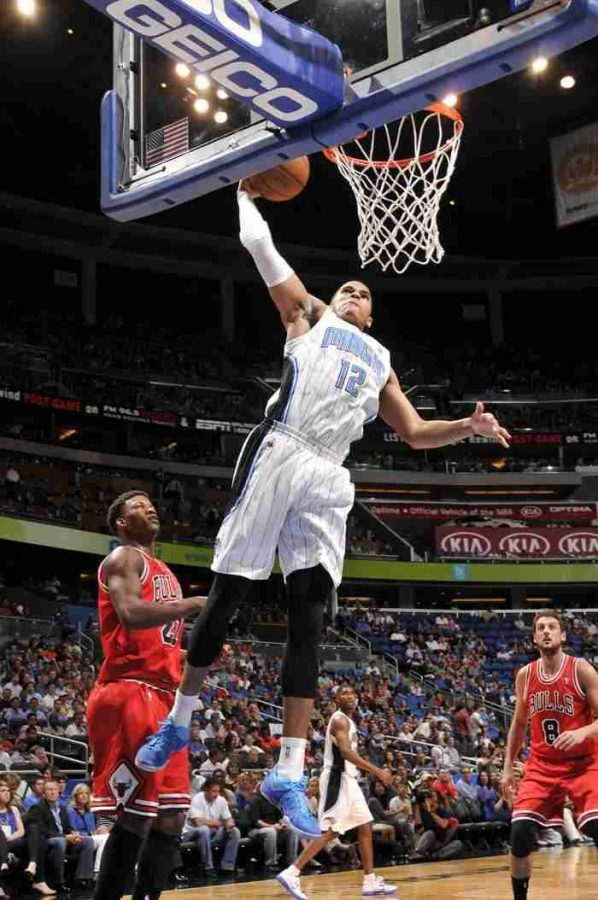 Tobias Harris had 18 points  and 7 rebounds in the Magic's win over the Celtics.