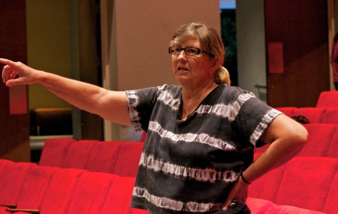 "Julia Gagne directing the cast of ""The Drowsy Chaperon"" in 2011. In her 30 years at Valencia, Gagne has directed close to 100 productions."