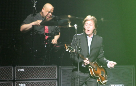 Paul McCartney rocks out on stage during his