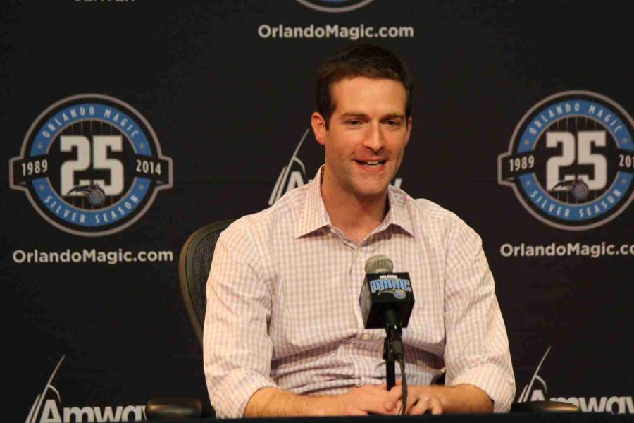 Rob+Hennigan+addressed+the+media+on+the+day+leading+up+to+the+draft.