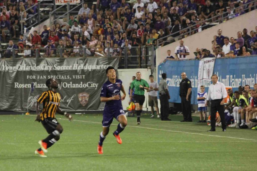 Long Tan scored his third goal of the playoffs on Friday, but Orlando City will be without him in the final due to his red card.
