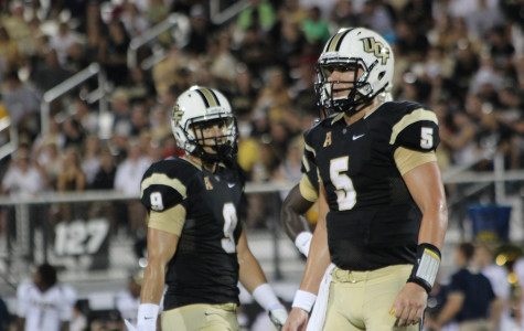 UCF quarterback Blake Bortles (right) has the third best Total QBR in the nation through Week 4.
