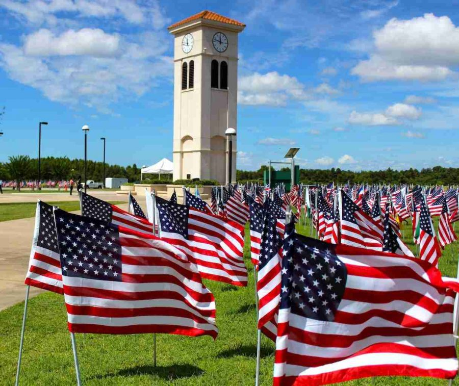 Flags+covering+the+Osceola+Campus+ahead+of+the+9%2F11+Remembrance+Ceremony.+