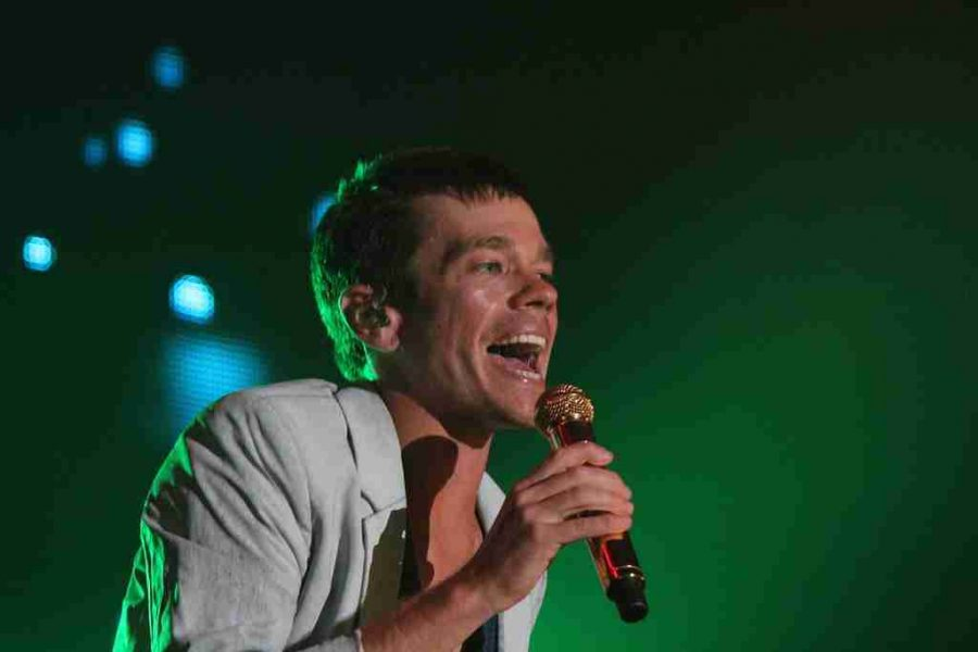 Nate Ruess of Fun. at the 'Most Nights Summer Tour' at CFE Arena in Orlando, Fla., on Thursday, Sept. 19, 2013. (Ty Wright/Valencia Voice)