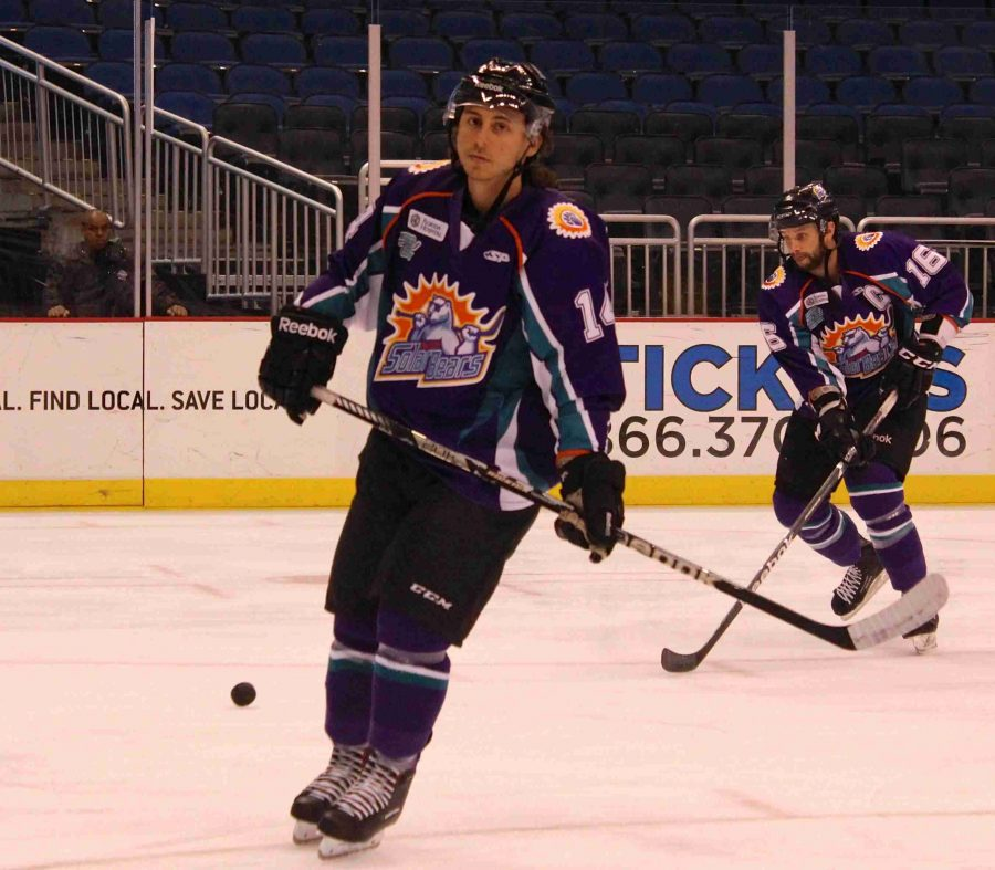 Matthew Sicsa returns to the Solar Bears after leading the team in assists (33) and points (48) last season.