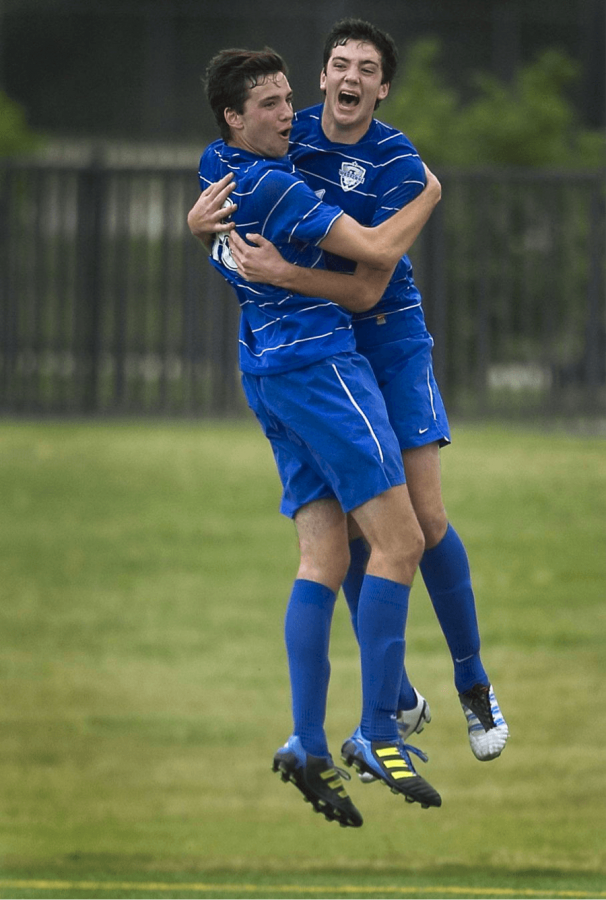 Twin brothers Walker, left, and Tucker Hume