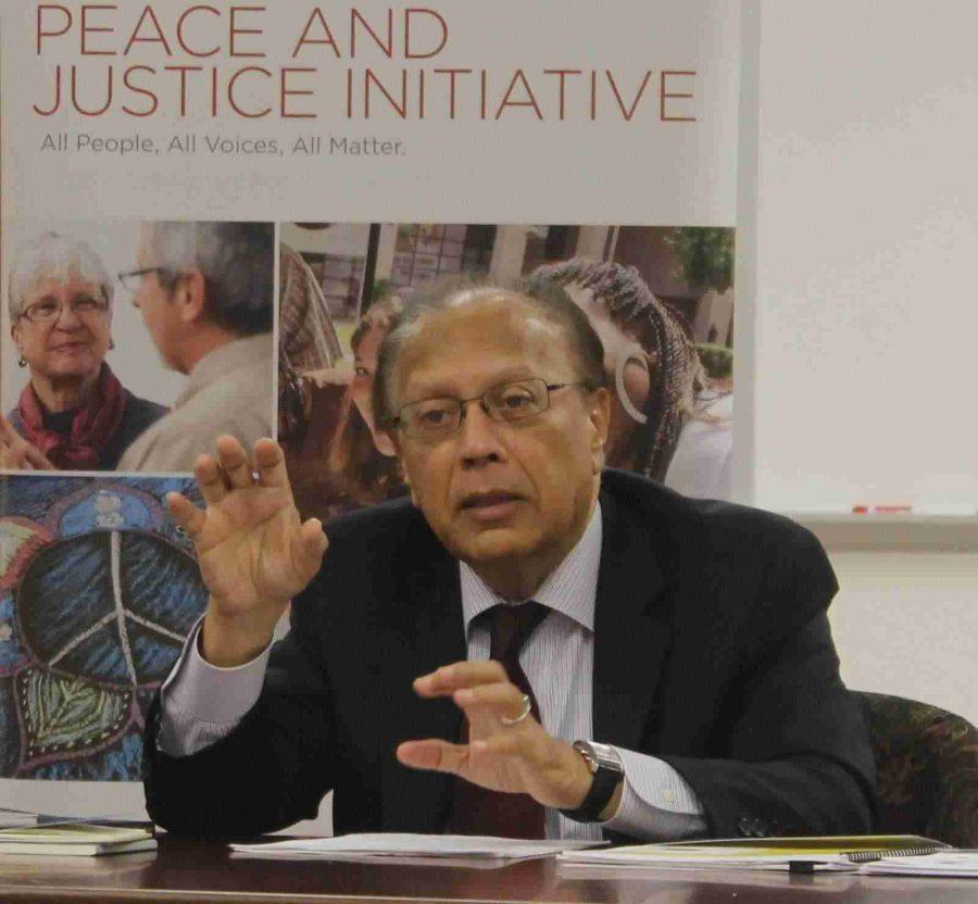 Ambassador Anwarul K. Chowdhury spoke at West Campus on Thursday.