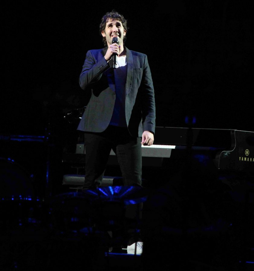 Josh Groban performing at the Amway Center for the
