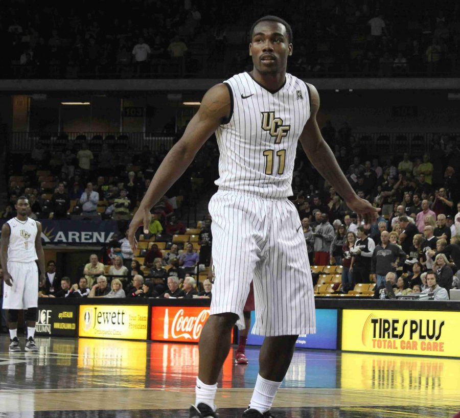 Calvin Newell had 15 points in the Knights loss to the Seminoles on Wednesday.