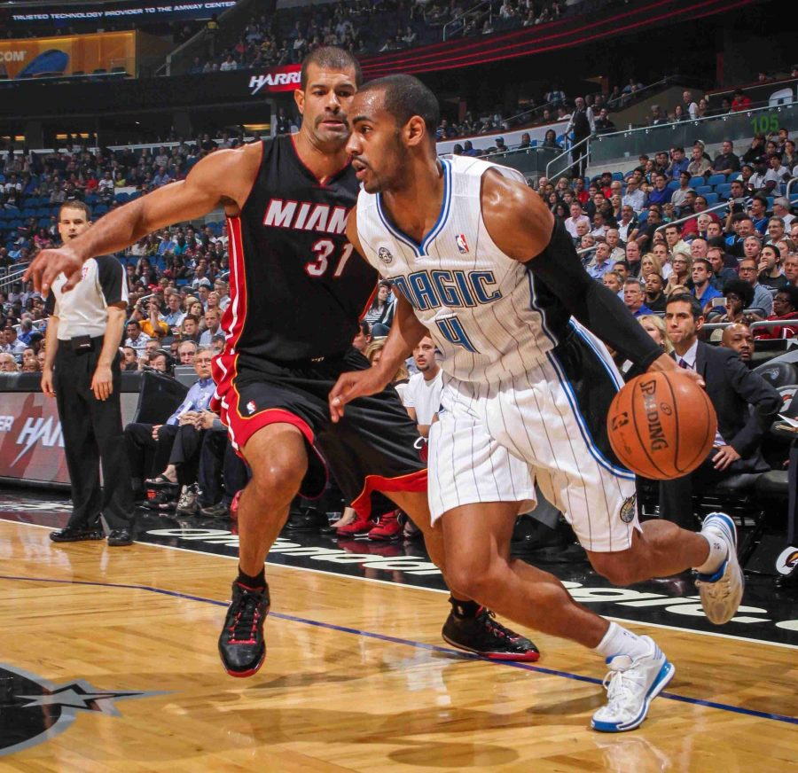 Arron Afflalo (right) scored 30 points against the Heat , giving him 91 points in the past three games.