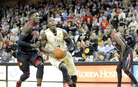 UCF's Isaiah Sykes led the Knights with 19 points and 9 rebounds in their loss to defending champion Louisville.