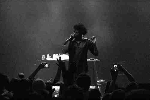 Danny Brown performs at the Plaza 'Live' Theatre in Orlando, Fla., on Wednesday, Dec. 4, 2013. (Ty Wright / Valencia Voice)