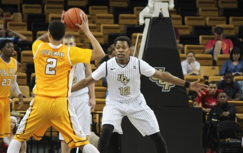 UCF's Matt Williams (No.12)  had 8 points, 5 rebounds, 2 steals and 2 assists off the bench in the Knights win over Valpo.
