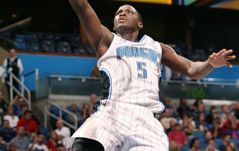Magic guard Victor Oladipo was one rebound shy of a triple-double in Friday's double-overtime win over the Knicks.