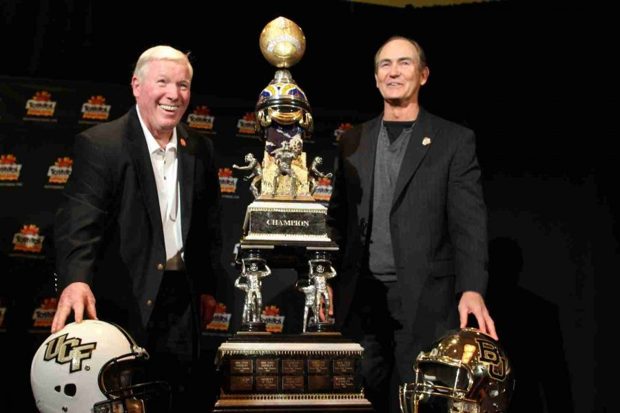 UCF and Baylor will meet for the first time when they face-off in the Tostitos Fiesta Bowl on New Year's Day.