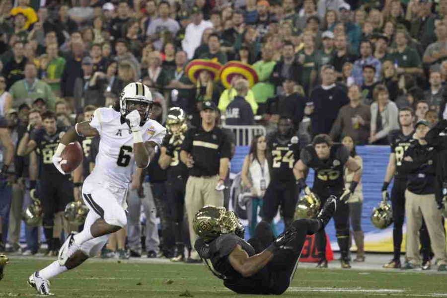 Rannell Hall had 2 touchdowns and 113 yards receiving in UCF's Fiesta Bowl victory.