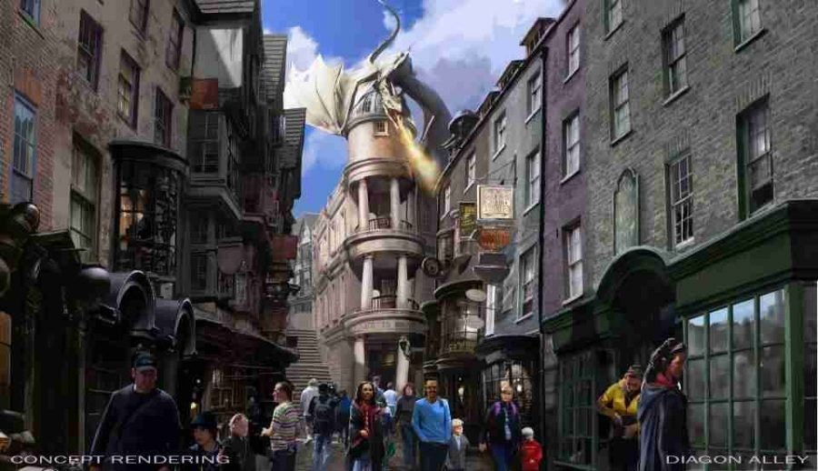 A+fire+breathing+dragon+tops+Gringotts+Bank+in+the+latest+attraction+Harry+Potter+and+the+Escape+from+Gringotts.