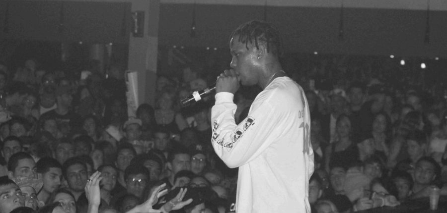 Travi$ Scott opens for Juicy Js Never Sober Tour at the Firestone Live in Orlando, Fla. on Feb. 21, 2014. (Ty Wright / Valencia Voice)