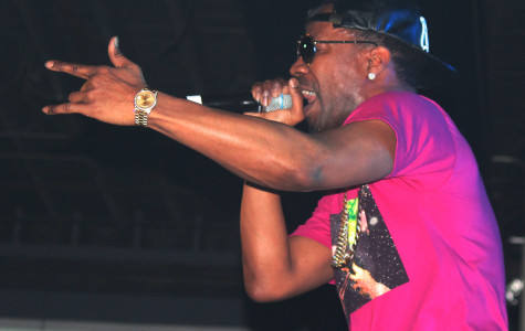 Juicy J performs at the 'Never Sober Tour' at the Firestone Live in Orlando, Fla. on Feb. 21, 2014. (Ty Wright / Valencia Voice)