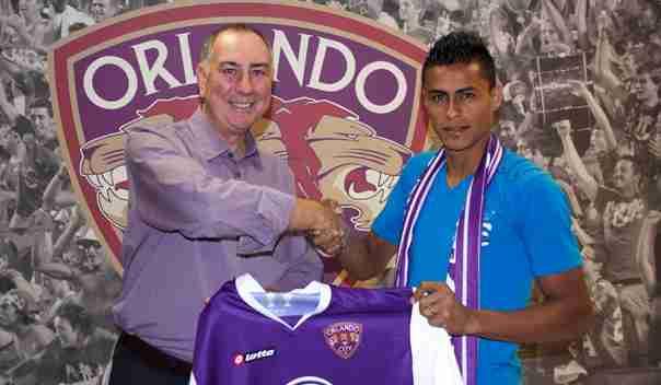 El Salvadorian Darwin Ceren (right) was Orlando City's third MLS signing of the offseason.