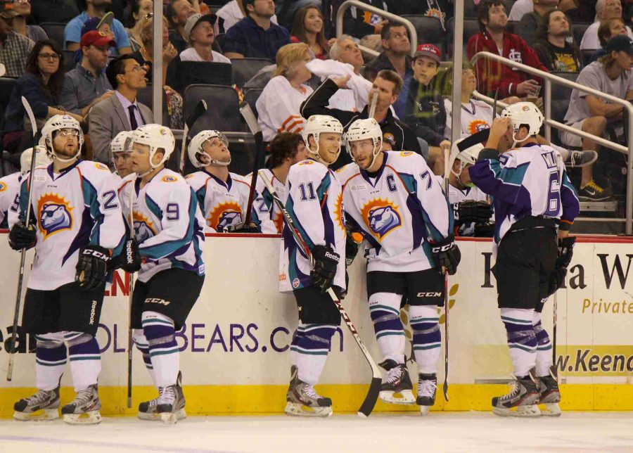 Solar Bears captain Eric Baier (7) currently has six goals and six assists for Orlando, while holding down the first-line defense for the Solar Bears.