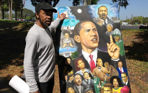 Black History artist showcases painting