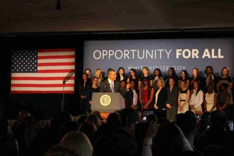 President Barack Obama visited Valencia College on Thursday to speak about women in the economy.