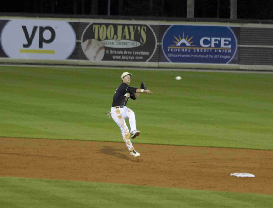 Dylan Moore drove in four runs during the Knights 6-4 win over Temple on Friday.