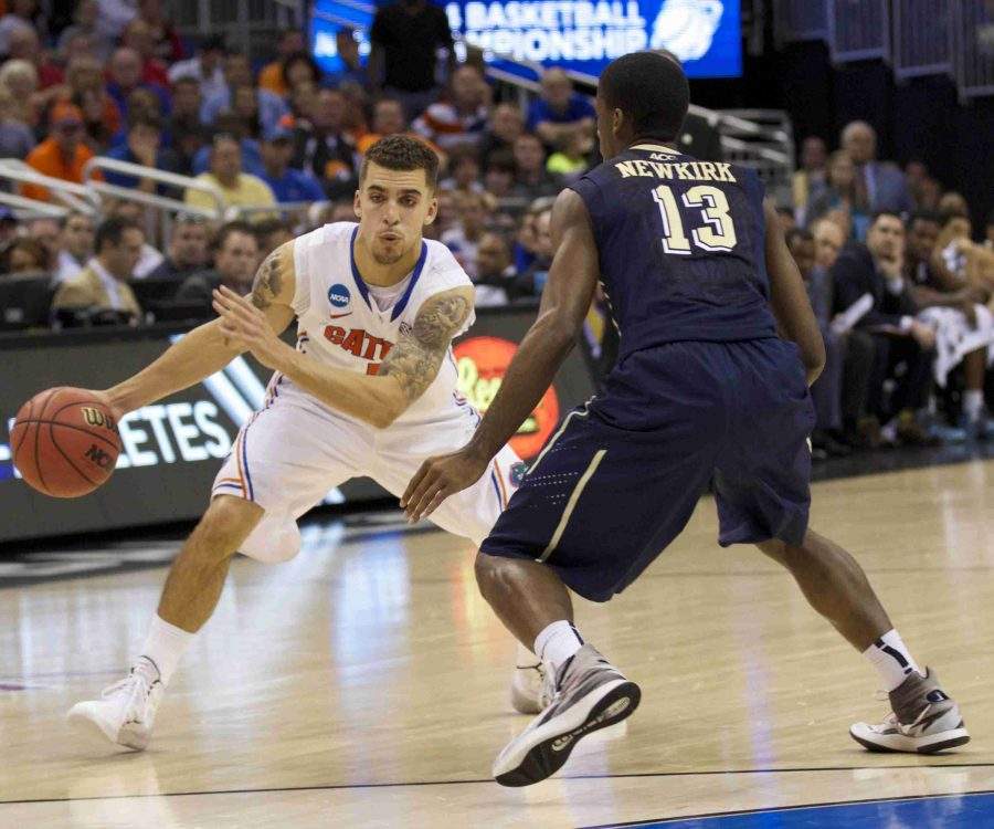 Florida Gators guard, Scottie Wilbekin led all scorers with 21 points in Saturday's third round game against Pitt.
