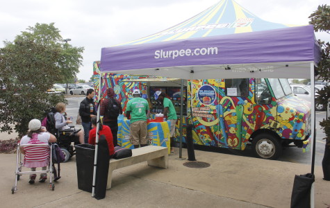 Free 7-Eleven Slurpee samples on West Campus