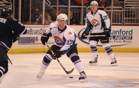 Jacop Cepis was honored with his ECHL Player of the Month trophy, for the month of March prior to the game.