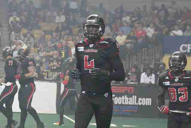 Wide receiver Greg Carr was awarded the AFL Highlight of the Week on April 1, 2014.