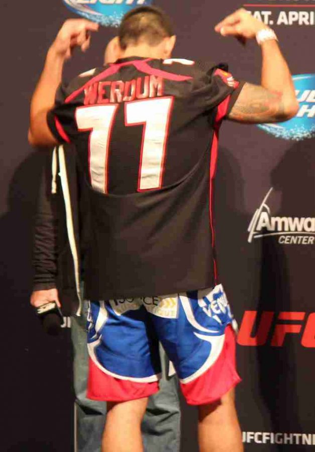 Fabricio Werdum wore his Orlando Predators jersey to the UFC on FOX 11 weigh-ins last weekend.