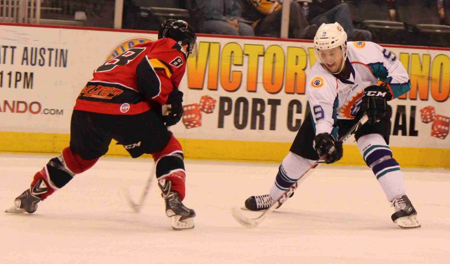 The Solar Bears outshot the Cyclones 36-26, but still fell 4-2 on Thursday.