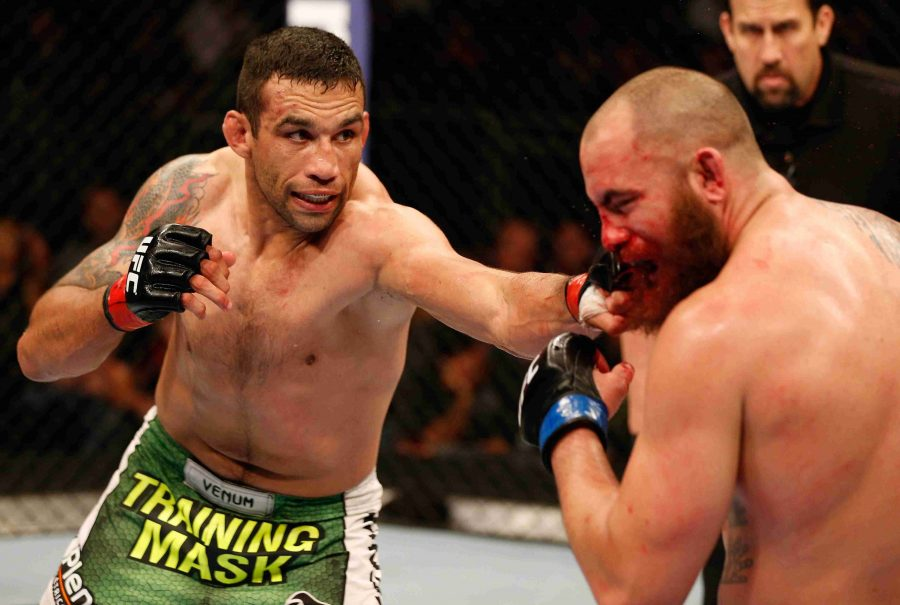 Fabricio Werdum (right) will now face Cain Velasquez in a future event for the Heavyweight title.