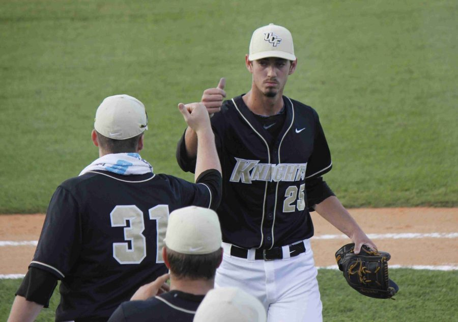 Eric Skoglund has been the Knights ace pitcher throughout the 2014 season.