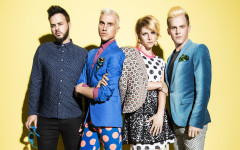 From left, Branden Campbell, Tyler Glenn, Elaine Bradley and Chris Allen of Neon Trees, will play the Hard Rock Live on Tuesday, May 27.