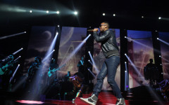 Romeo Santos performs at the Amway Center in Orlando, Florida, on Friday, May 30, 2014. (Ty Wright / Valencia Voice)