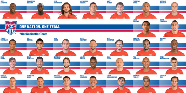 U.S. men's national team announces 30-man roster