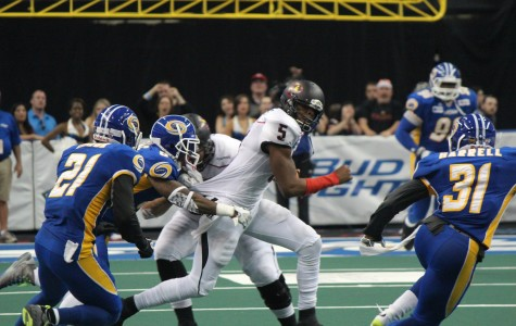 Bernard Morris threw for four touchdowns, but also had three interceptions and a fumble in the loss to the Storm.