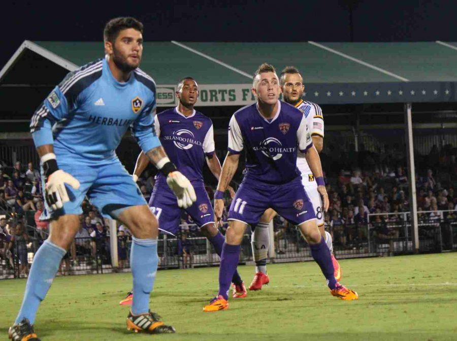 Corey Hertzog scored two goals and had another two disallowed in Orlando City's 3-0 win over L.A. Galaxy II.