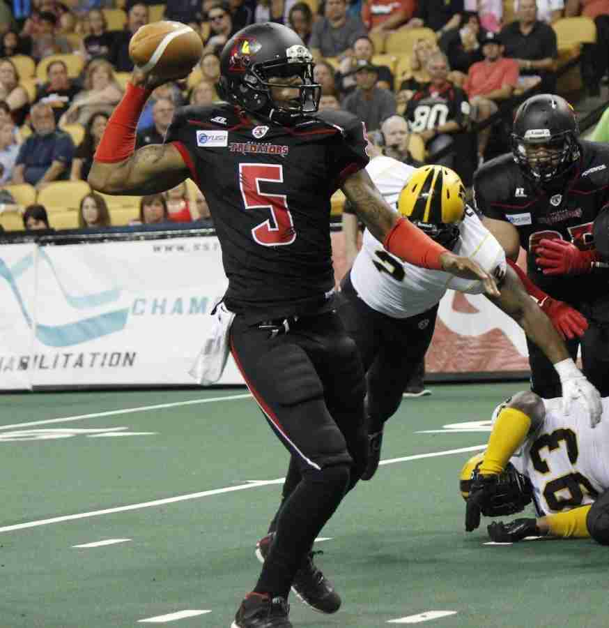 Bernard Morris threw three touchdowns and rushed for two more in the Predators 58-39 win over the San Antonio Talons.