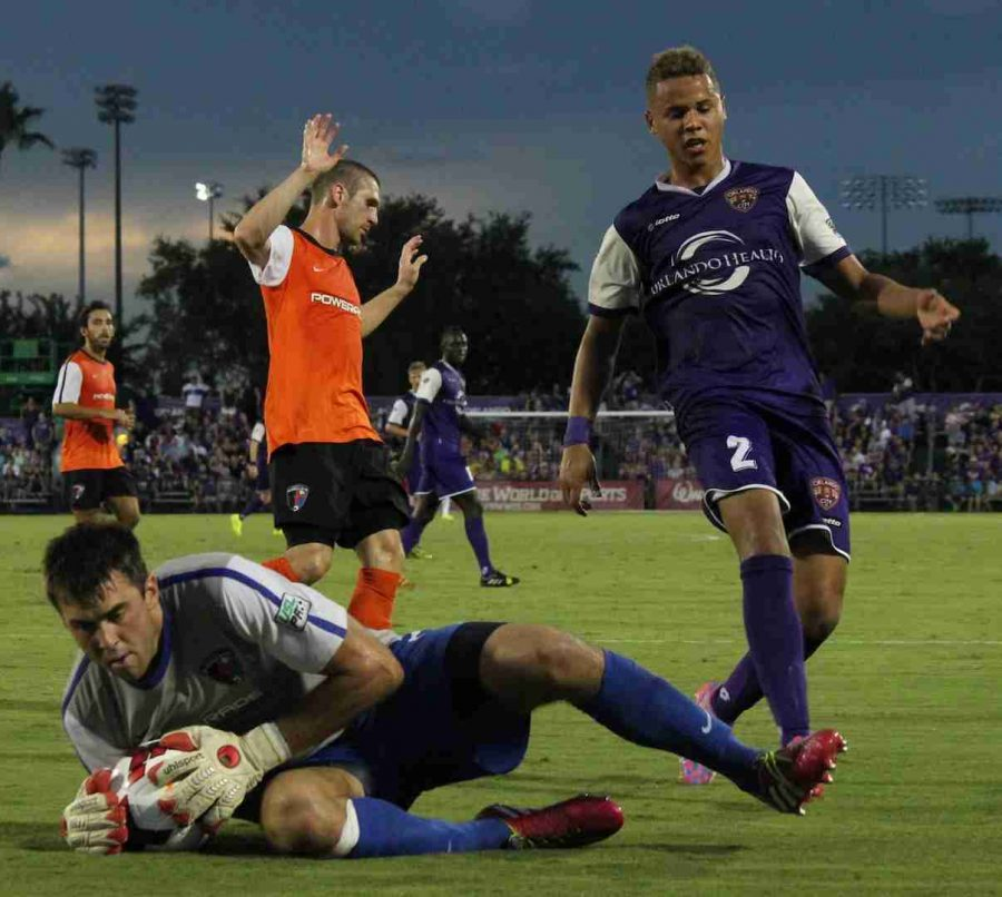 Tyler Turner scored his first professional goal during Orlando City's game against the Charlotte Eagles.