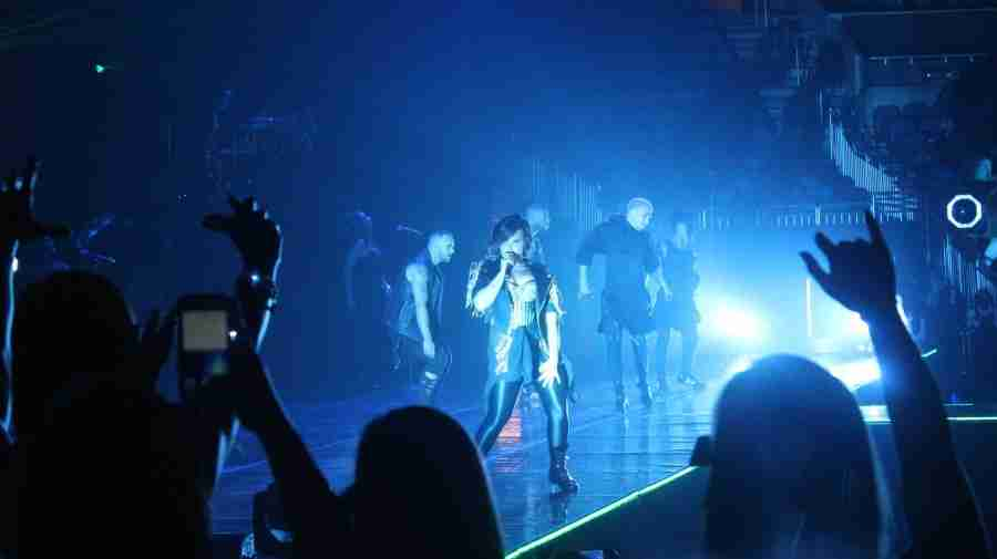 Demi Lovato peforming at the Demi World Tour, at the Amway Center, in Orlando, Florida, on Monday, Sept. 15, 2014. (Ty Wright / Valencia Voice)