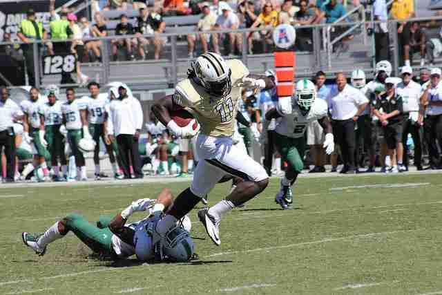 Junior wideout Breshad Perriman has a knack for long touchdown catches this year, as his three TD receptions have gone for 45, 52 and 61 yards.